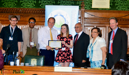 Lauren Turner Receives a Youth Achievement Award from Rt Hon Simon Hughes MP