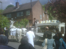 Mr OP Sharma's horse driven hearse