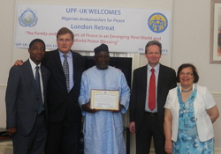 Rev Kato Receives an Ambassador for Peace Award