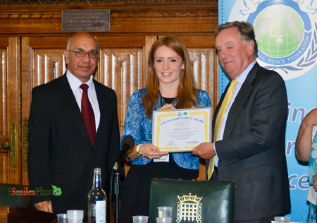 Stephanie Coombs - Presented by Rt Hon Sir Richard Ottaway MP