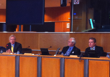 Conflict Minerals Panel Humphrey Hawksley, Keith Best and Charles Tannock MEP