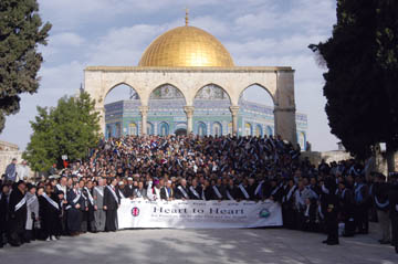 MEPI rallies at the steps to the Temple Mount/Al Aqsa Plaza provide a rare opportunity for Muslims, Christians, and Jews to meet at an area considered sacred by all.