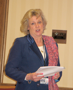 Lady Fiona Hodgson speaking