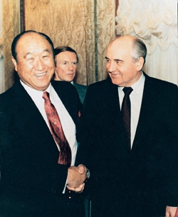 Rev Moon and Gorbachev