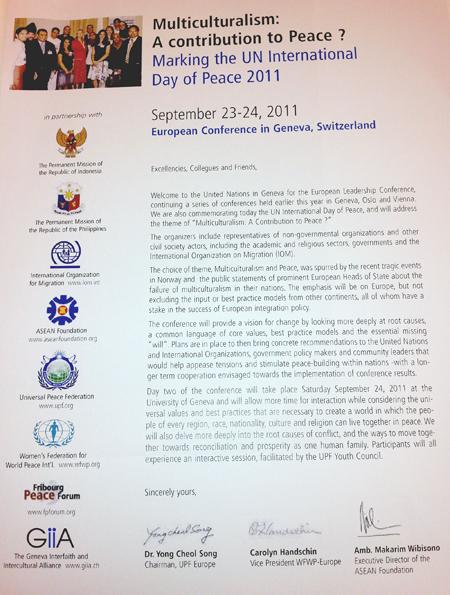 Multi-culturalism - A Contribution to Peace?