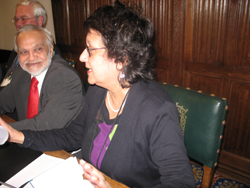 Yasmin Alibhai-Brown on the front panel