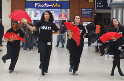 WAIT Victoria Station performance fan dance