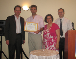 Ambassdor for peace award presented to Tom Break MP
