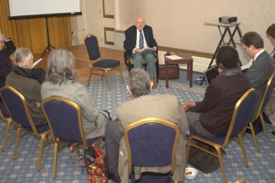 Prof Karel Werner speaking to Group