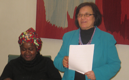 UPF Statement on Status of Women read by Margaret Ali