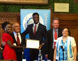 Jermain Jackman UPF Youth Achievement Award