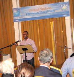 Keldon Alleyne Youth Aid Lewisham speaking
