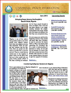 UPF Newsletter June 2013