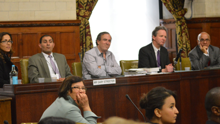 Within the Eye of the Storm Post Screening Panel (L to R) Shelley Hermon, Bassam, Rami, Robin Marsh, Mr Virendra Sharma MP