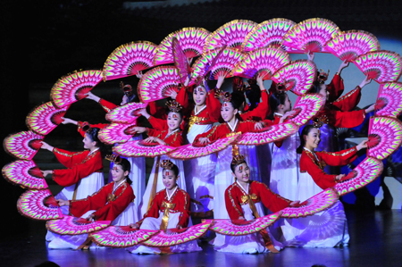 Little Angels Performed in Pyongyang in a Cultural Exchange