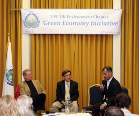 Lawrence Bloom Marios Gerogiokas and Murad Qureshi on the Green Economy Initiative
