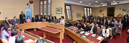 Japanese Delegation in Parliament