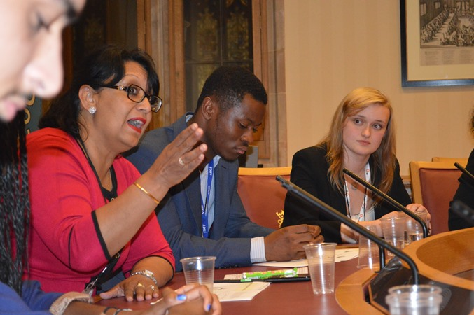 Rt Hon. Baroness Verma speaking with young people